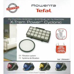 Kit de filtration pour X-Trem Power Cyclonic Rowenta - ZR006001