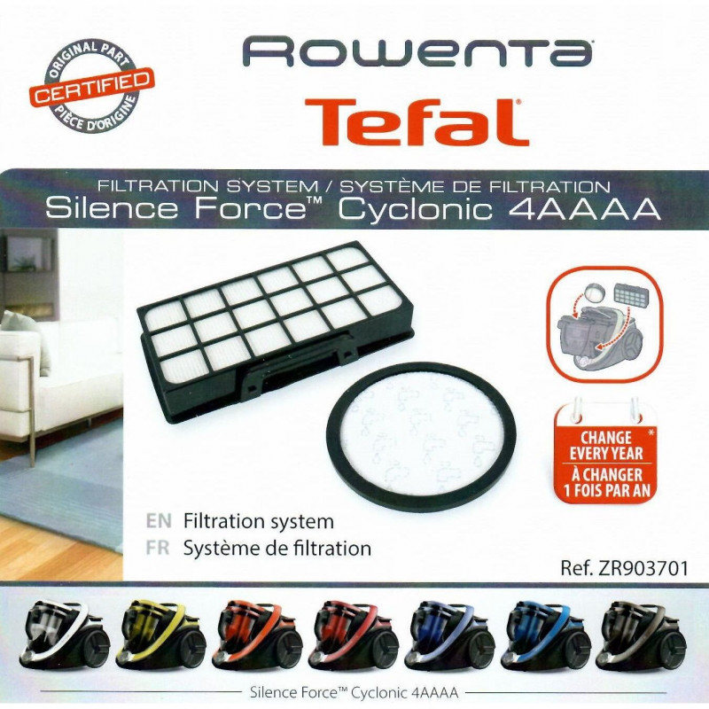 Kit de filtration Rowenta Silence Force Cyclonic - ZR903701