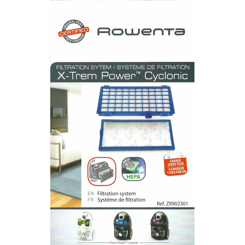 Kit de filtration pour X-Trem Power ROWENTA - ZR902301