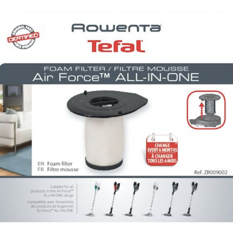 Filtre mousse ROWENTA - ZR009002 / Air Force All in One