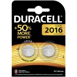Lot de 2 Piles DURACELL DL2016 / CR2016