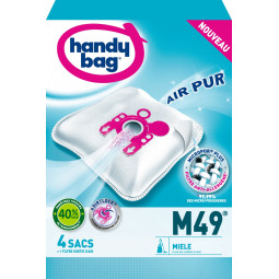 4 sacs HANDY BAG - M49 (+ 1 filtre)