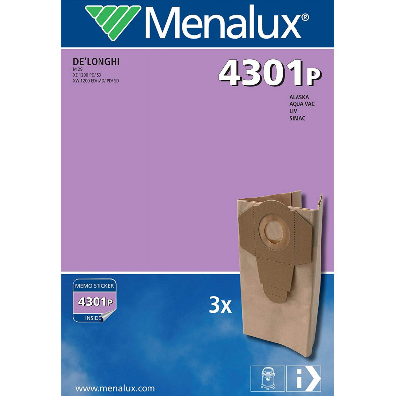 copy of 5 sacs aspirateur en papier MENALUX - 1221P (Type LUX Royal)